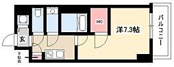 エスリード新栄デュオ 7階1Kの間取り