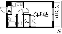 南花屋敷エイティーンハウス[2階]の間取り