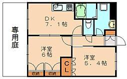 CENTURY椿A[1階]の間取り