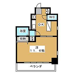 エステムコート御所南II[3階]の間取り