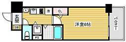 プレサンス三宮ルミネス[5階]の間取り