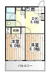 神奈川県相模原市南区相南2の賃貸アパートの間取り