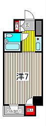 キャッスルマンション西川口駅前[3階]の間取り