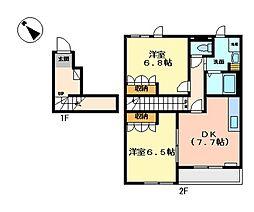 パインハウス寺家[205号室]の間取り