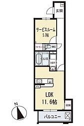 ビエント 3階[303号室]の間取り