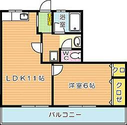 ロード黒崎[5階]の間取り