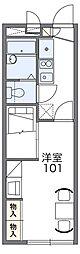 南海高野線 萩原天神駅 徒歩24分の賃貸アパート 1階1Kの間取り