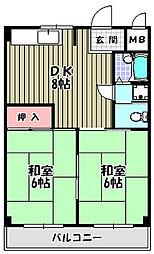 大阪府堺市堺区向陵西町3丁の賃貸マンションの間取り