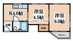 小阪マンション[3階]の間取り