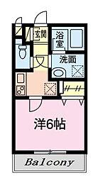 東京メトロ東西線 葛西駅 徒歩14分の賃貸アパート 2階1Kの間取り