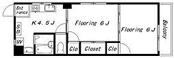 メゾン吉祥寺(1508)[401号室]の間取り