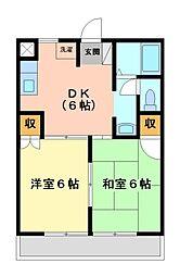 神奈川県川崎市宮前区馬絹5丁目の賃貸アパートの間取り