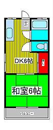 埼玉県戸田市中町2丁目の賃貸マンションの間取り