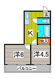 31パートII[303号室]の間取り