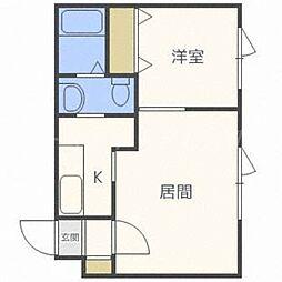 北海道札幌市東区北十四条東7丁目の賃貸マンションの間取り