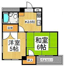 本多ビル[2階]の間取り