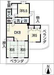 サンシティ小幡[4階]の間取り