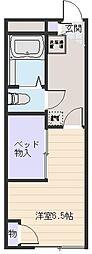バウム フェルド[2階]の間取り
