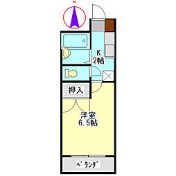 安田学研会館 中棟[208号室]の間取り