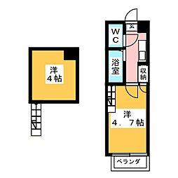 アップルハウス旭ヶ丘3[1階]の間取り