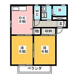 キオラ・カズ[2階]の間取り