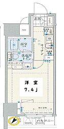 リヴシティ日本橋ネクステシア 6階1Kの間取り
