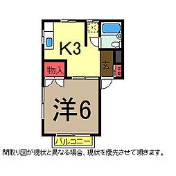 ウィング千成[2階]の間取り