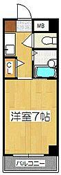 レジデンスオークラ[C110号室]の間取り