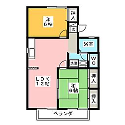 セジュール近藤III[2階]の間取り