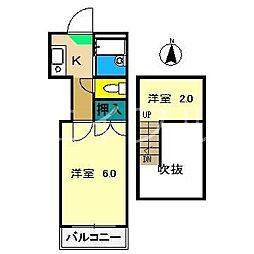 比島パレス[1階]の間取り