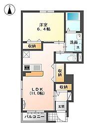 仮)S・M様賃貸アパート新築[1階]の間取り