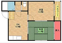 マンションマウンテン北島[2階]の間取り