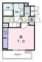 神奈川県川崎市川崎区浅田2丁目の賃貸アパートの間取り