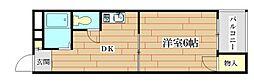 ダンディーA[2階]の間取り