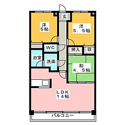 コスモマンション[2階]の間取り