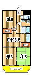 渋谷ビル[402号室]の間取り
