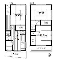 [一戸建] 東京都練馬区練馬2丁目 の賃貸【/】の間取り