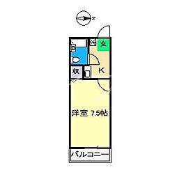 アミリーハイツ[2階]の間取り