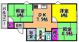 グリーンヒル小金台 D棟[2階]の間取り