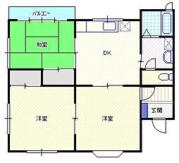 新潟県新発田市新富町1丁目の賃貸アパートの間取り