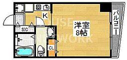 シボラ六条高倉[4-B号室号室]の間取り