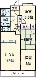 愛知県名古屋市千種区新西2丁目の賃貸マンションの間取り