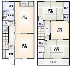 [テラスハウス] 神奈川県小田原市高田 の賃貸【/】の間取り