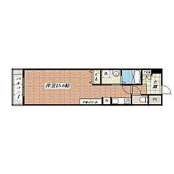 山崎マンション13[4階]の間取り