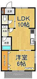 グリーンフォレスト武庫之荘8[2階]の間取り