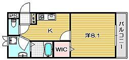 ガート・ロマーノ[301号室]の間取り