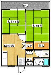 八尋コーポ[2階]の間取り