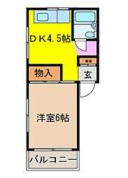レオンコートII[4階]の間取り
