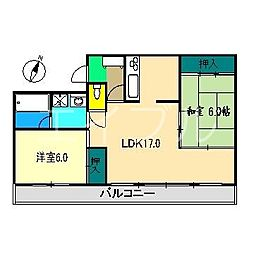 ガーデンフラット[1階]の間取り