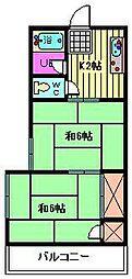 第2福田ハイツ[101号室]の間取り